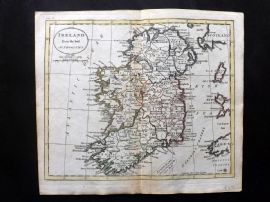 Guthrie 1788 Antique Hand Col Map. Ireland from the best Authorities